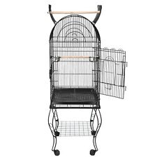 Durable 63''H Large Cockatiel Parakeet Finch Open Top Roll Bird Cage With Stand