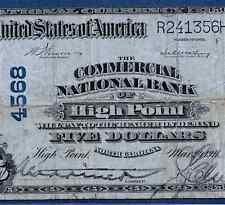 NC  1902 $5    ♚♚ HIGH POINT,NORTH CAROLINA ♚♚   PMG  VF 20