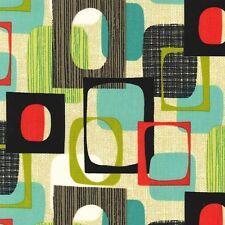 Michael Miller Mid Modern Framed Vanilla Fabric