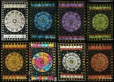 Zodiac Poster Small Tapestry Wall Hanging Table Astrology Cotton Hippie Decor