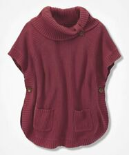 Coldwater Creek Women's Turtle Neck Shaker Cape-Sleeve Sweater (Red, 1X)