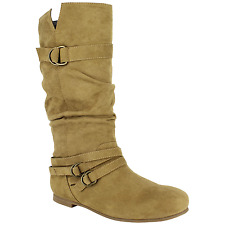 Women's Dolce Jussie Slouch Boot Camel Size 7.5 #NJZVH-618