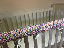 Reversible Baby Cot Crib Teething Rail Cover Protector ~ cute elephants