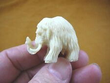 (tb-wooly-6) little baby Woolly Mammoth Tagua Nut palm figurine Bali carving