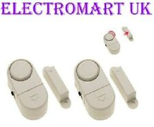 WIRELESS MAGNETIC ALARM CONTACTS DOOR WINDOW ENTRY SECURITY X 2