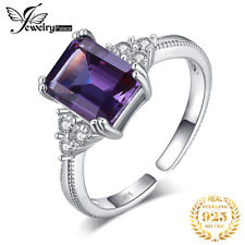 JewelryPalace Alexandrite Sapphire Cocktail Engagement 925 Sterling Silver Ring