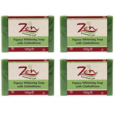PAPAYA WHITENING SOAP GLUTHATHIONE Pack4 Inhibits melanin whitens anti aging