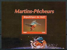Mali 2018 MNH Kingfishers Kingfisher 1v M/S I Bird Birds Stamps