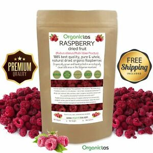 Whole Dried Raspberry Natural Organic Pure Premium Quality NO SO2 no added sugar