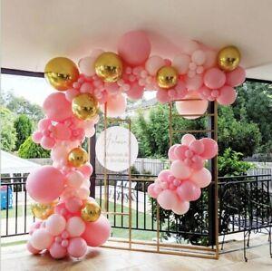 Pink Balloon Arch Garland Set Gold Balloons Baby Shower Wedding Decor 124Pcs AU