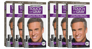 Just For Men Touch Of Gray, Takes Away Some Gray, T35 Medium Brown (6 Pack)