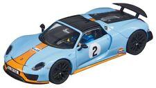 Porsche 918 Spyder 'GULF RACING' #2 Slot Car 1:32 Model CARRERA