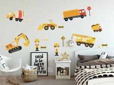 Construction Trucks Wall Stickers / Decors, Removable Fabric Stickers