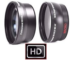 2 Pcs Lens Set Hi Def Telephoto & Wide ANgle Lens Kit For Sony HXR-NX5U HXR-NX5