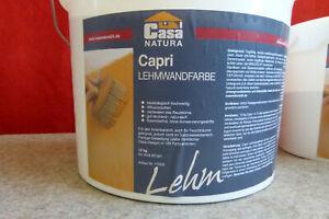 CasaNatura Capri  12Kg Lehm Farbe für ca. 80m² naturweiss matt abtönbar