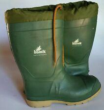 KAMIK Green Waterproof Rubber Rain Snow Insulated Winter Boots Men's Sz 8