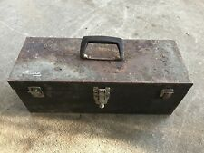 Vtg Patina Rust Kennedy Metal Tool Box Chest Repurpose