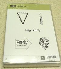 Stampin' Up! Clear Mount Stamp Set Party This Way (set of 5) BNIB