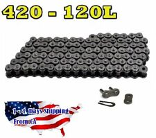420 Motorcycle Chain 120-Link with 1 Master Link Perfect for Go Kart Mini Bikes