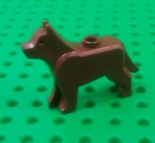 *NEW* Lego Dog Dark Brown Dog Wolf Animal House Doggy Dogs Pet x 1 piece