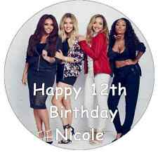 """Little Mix Personalised Cake Topper 7.5"""" Edible Wafer Paper Birthday Party"""