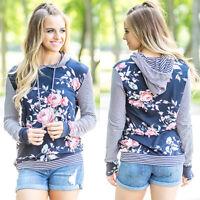 Women Hooded Hoodie Long Sleeve Sweatshirt Casual Pullover Sweater Tops Jumper