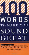 Good, 100 Words to Make You Sound Great, American Heritage Dictionaries, Book