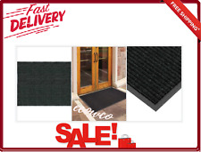 60 X 36 Inch Rib Door Mat Recycled Rubber Thermoplastic Outdoor Rag Black New