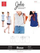Jalie 3881 Rose Sleeveless Button-Down Shirt Sewing Pattern 28 sizes Women Girls