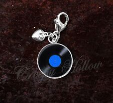 925 Sterling Silver Charm 33 1⁄3 rpm microgroove vinyl record LP