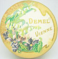 vintage advertising round Cafe Box Demel Vienne