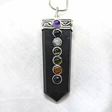 Black Tourmaline 925 Silver Pendant Grounding Protection Crystal Healing Schorl