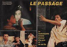 Coupure de presse Clipping 1986 Alain Delon  film  Le Passage  (6 pages)