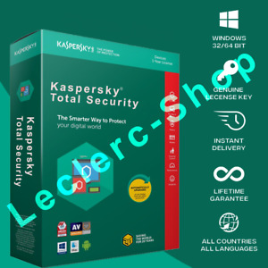 Kaspersky Total Security 2021 1PC / User / 2 Year Download Code Email