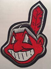 """Cleveland Indians Chief Wahoo patch embroidered patch 4.75"""" tall x 3.5"""" wide"""