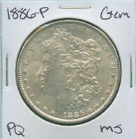 1886-P Morgan Dollar Uncirculated US Mint Gem PQ Silver Coin Unc MS