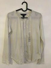 New super cute Polo Ralph Lauren cream cotton shirt blouse top girl size L 12-14