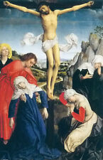 Oil rogoer vander weyden crucifixion brussels first quarter of the 16th century