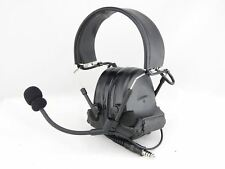 AIRSOFT TOMTAC COMTAC II 2 HEADSET MIC BOOM RADIO PELTOR DESIGN BLACK