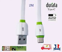 Câble Charge Type-C 2.4A Charge Rapide USB 2M Durata Samsung HUAWEI Sony LG MI
