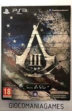 ASSASSINS CREED III (3) PS3 SPECIAL EDITION PAL ITA