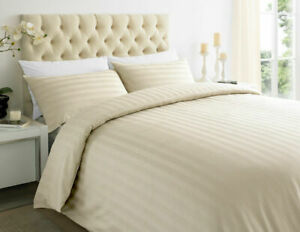 200 TC 100% Egyptian Cotton Luxury Satin Stripe Deep Fitted sheets Set All Sizes