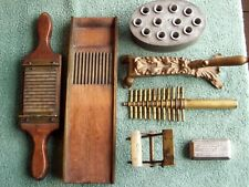 Lot of Six (6) Early Apothecary Pharmacy Items, Pill Roller, Cork Sizer & More!