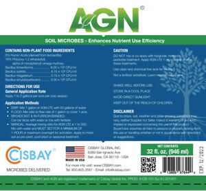 CISBAY AGN Soil Microbes - Enhance nutrient for long root plants  (32 fl. oz.)
