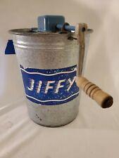 VINTAGE JIFFY Galvanized 2 Quart Hand Crank Ice Cream Maker Churn Freezer Sears