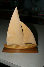 Vintage Nautical Wooden Boat Collectible by Acadian Crafts in Nova Scotia
