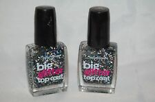 2 New Sally Hansen Big Glitter Top Coat Nail Polish 130 Meteor Light 2 Bottles