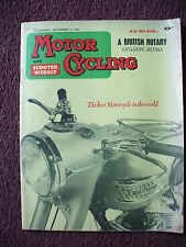 MOTORCYCLING 14TH DECEMBER 1961 ARIEL TRIUMPH BRITISH ROTARY MODEL ADS  ETC