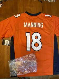 NIKE On Field Denver Broncos Peyton Manning Super Bowl Jersey Boys Large NIB NEW
