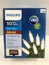 Philips 50ct Outdoor Solar LED Mini Lights Warm White
